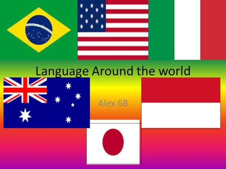Language Around the world Alex 6B. Brazil The language that Brazil people usually speak is Portuguese language. Around 180 million people Brazilians speak.