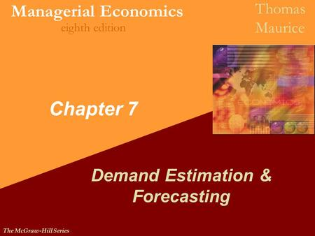 Demand Estimation & Forecasting