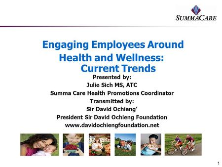 Engaging Employees Around Health and Wellness: Current Trends
