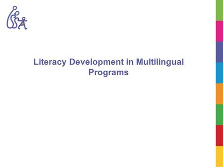 Literacy Development in Multilingual Programs. Learning Objectives To identify stages of literacy development in children and use strategies to build.