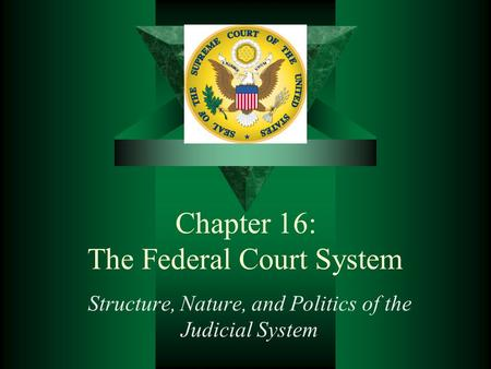 Chapter 16: The Federal Court System