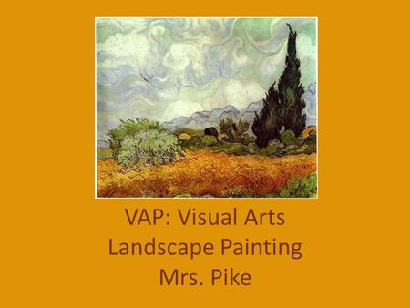 "VAP: Visual Arts Landscape Painting Mrs. Pike. ""Mont Sainte Victoire (Barnes)"" by Paul Cezanne Write a 5 minute reflection on this landscape painting."