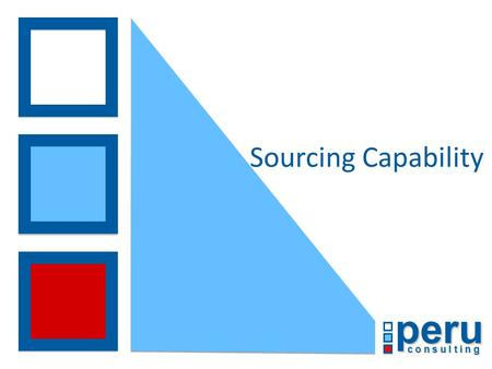 Peru c o n s u l t i n g Sourcing Capability. © Peru Consulting 2013 Peru Sourcing Proposition Peru recognises that there are many drivers which act as.