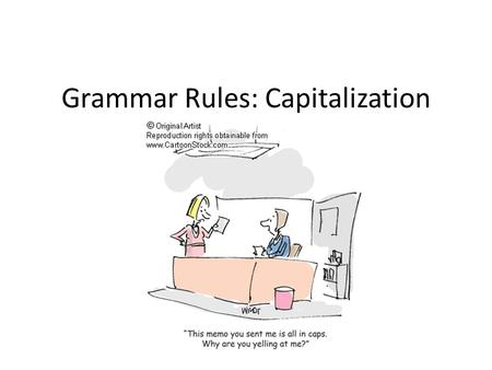 Grammar Rules: Capitalization