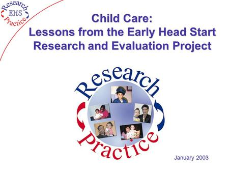 Child Care: Lessons from the Early Head Start Research and Evaluation Project January 2003.