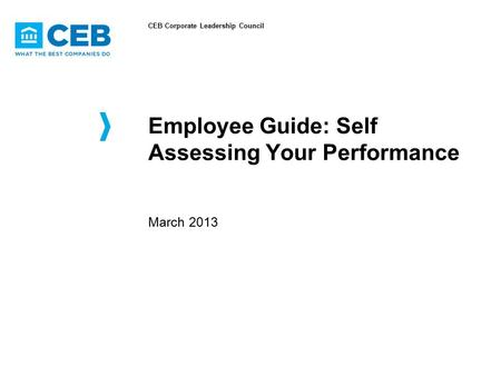 Employee Guide: Self Assessing Your Performance