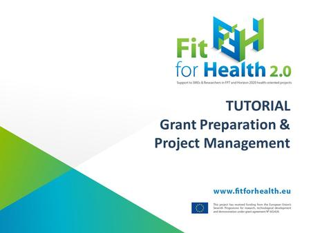 TUTORIAL Grant Preparation & Project Management. Grant preparation What are the procedures during the grant preparations?  The coordinator - on behalf.