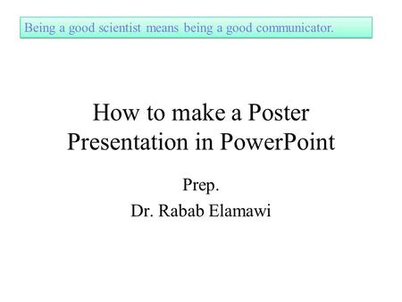 how to make a poster presentation in powerpoint by gericke