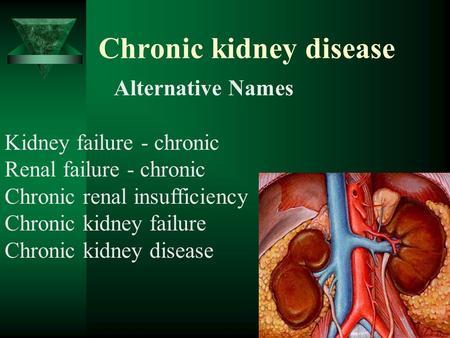 management of chronic renal failure pdf