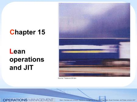 Lean operations and JIT
