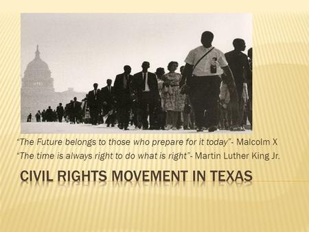 Civil Rights Movement in Texas