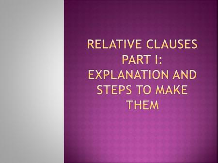  DEFINING CLAUSES give essential information about their antecedent and without them the meaning will be incomplete.  These never go between commas.
