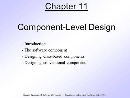 Chapter 11 Component-Level Design