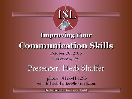 This module is:  an introduction to communication in general  about making effective presentations  about being more effective in all areas of communication.
