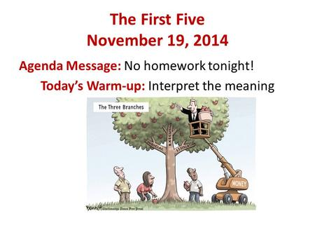 The First Five November 19, 2014