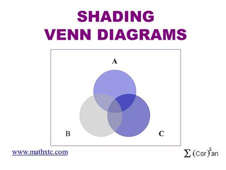 Venn diagram animal fun presented by angela compare and contrast a cb shading venn diagrams mathxtc try these venn diagram shading ccuart Images