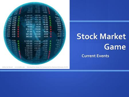 Stock Market Game Current Events.