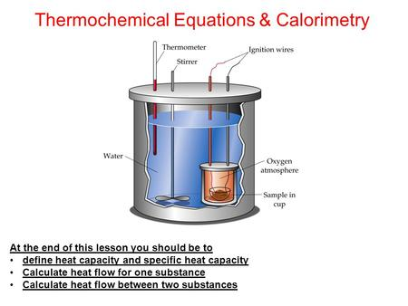 Thermochemical Equations & Calorimetry