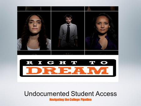 Undocumented Student Access Navigating the College Pipeline.