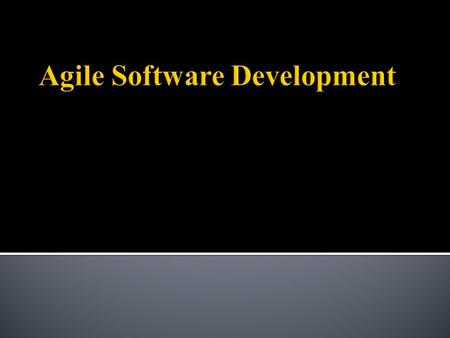 Agile software development is a group of software development methodologies based on iterative and incremental development, where requirements and solutions.