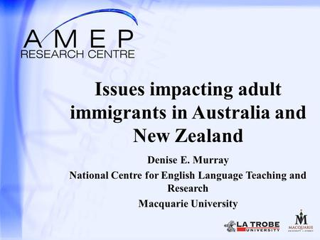 Issues impacting adult immigrants in Australia and New Zealand