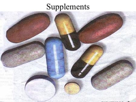 Supplements. Introduction In today's world of sports and athletics, the pressure to compete and succeed as well as just to keep up with your competition.