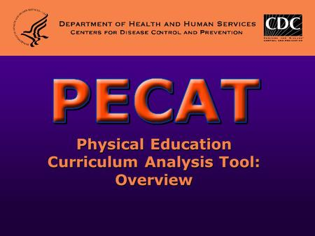 Physical Education Curriculum Analysis Tool: Overview.