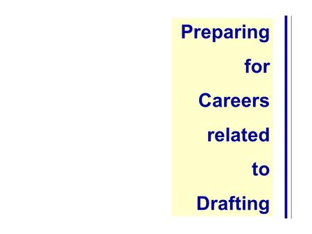 Preparing for Careers related to Drafting.