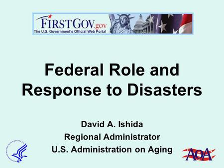 Federal Role and Response to Disasters