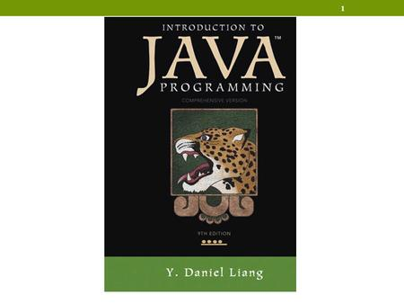 1. 2 Chapter 1 Introduction to Computers, Programs, and Java.