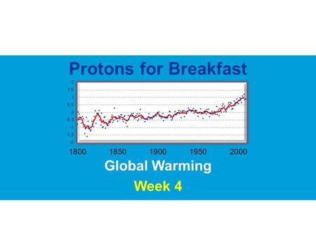 Protons for Breakfast Global Warming Week 4 In the event of…In the event of an attack of mutant bananas… In the event of…