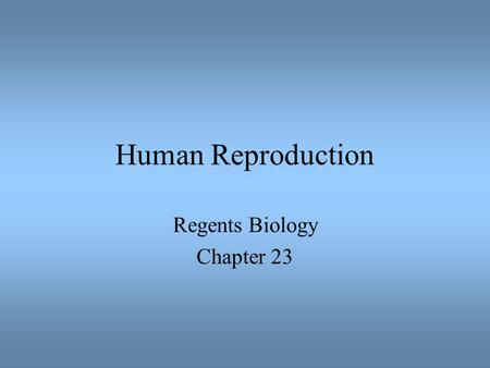 Regents Biology Chapter 23