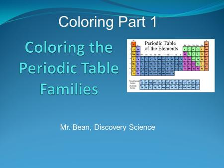 Major and minor groups on the periodic table 1 representative coloring the periodic table families urtaz Images