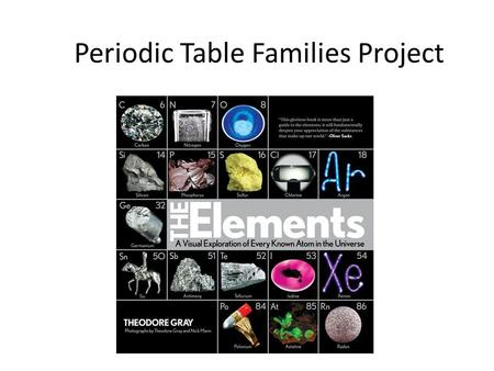 Periodic Table Families Project Ppt Download
