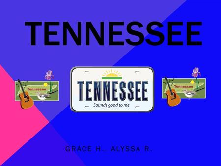 TENNESSEE GRACE H., ALYSSA R.. NICKNAME, REGION IN THE U.S, CAPITAL CITY, MAJOR CITY, AND POPULATION Nickname: The Volunteer State Region: Southeast Capital.