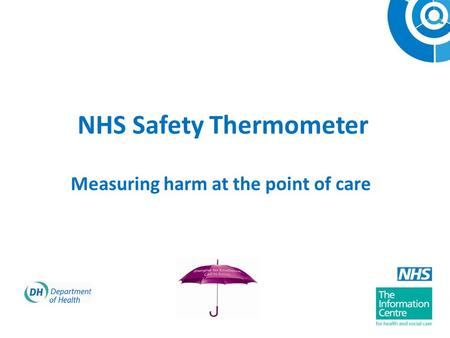 NHS Safety Thermometer Measuring harm at the point of care.