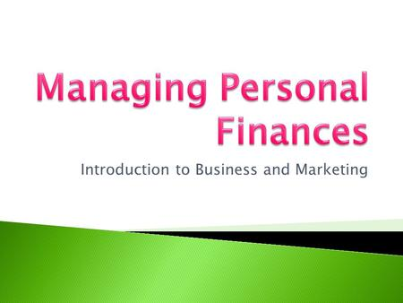Introduction to Business and Marketing. Explain the steps involved in the financial planning process. Identify sources of financial information. Discuss.