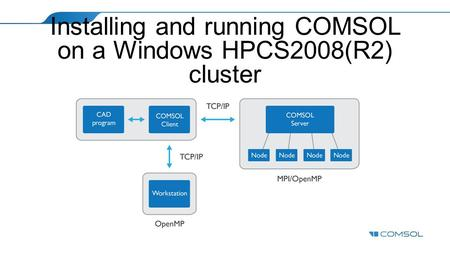 Installing and running COMSOL on a Windows HPCS2008(R2) cluster