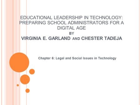 Chapter 6: Legal and Social Issues in Technology