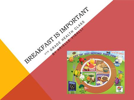 BREAKFAST IS IMPORTANT 4TH GRADE HEALTH CLASS BY ARIELLE VISALLI.