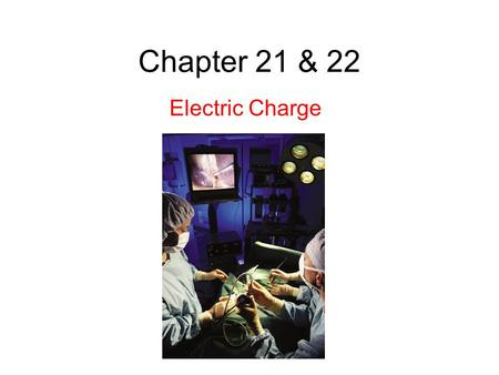 Chapter 21 & 22 Electric Charge. 21.4 Coulomb's Law This force of repulsion or attraction due to the charge properties of objects is called an electrostatic.