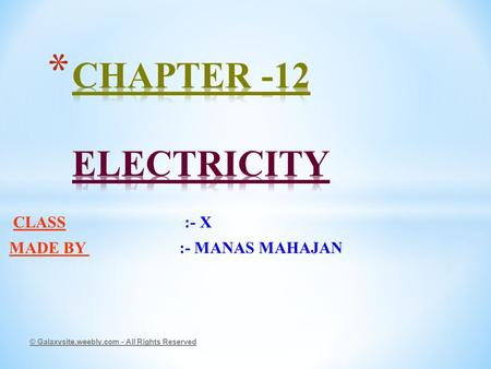 CURRENT ELECTRICITY Name: Class: - ppt video online download