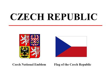 CZECH REPUBLIC Czech National EmblemFlag of the Czech Republic.