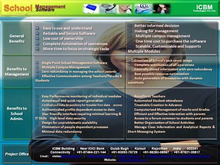 INTRODUCTION A School Management System is a large database