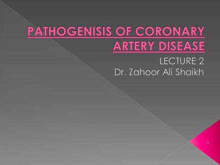 1.  Atherosclerosis is most common cause of coronary artery disease (CAD).  Atherosclerosis can affect one or all three major coronary arteries i.e.