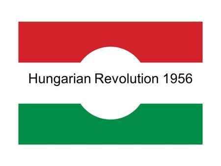 Hungarian Revolution 1956. Hungarian Uprising, 1956 A revolution and revolt against the Stalinist government of Hungary The government had imposed soviet.