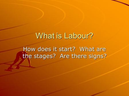 How does it start? What are the stages? Are there signs?