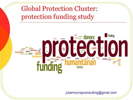 Global Protection Cluster: protection funding study