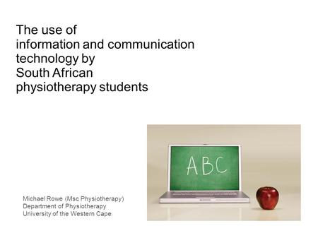 information and communication technology by South African