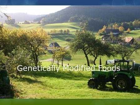 Genetically Modified Foods. What are Genetically Modified Organisms (GMOs)?  Organisms created when scientists move the genes they want from one organism.